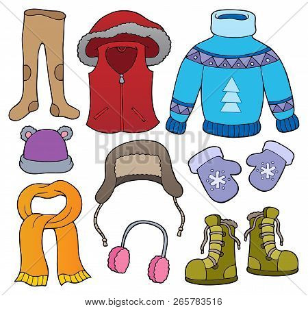 Winter Clothes Topic Set 2 - Eps10 Vector Illustration.