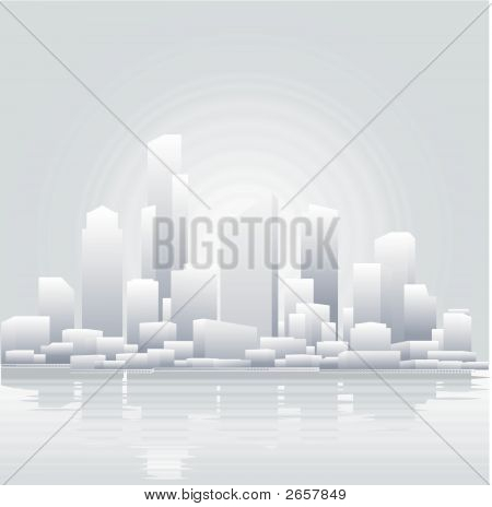 Abstract Grey City Background