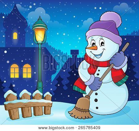 Winter Snowman Subject Image 6 - Eps10 Vector Illustration.