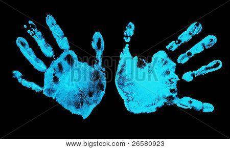 Spooky hands prints