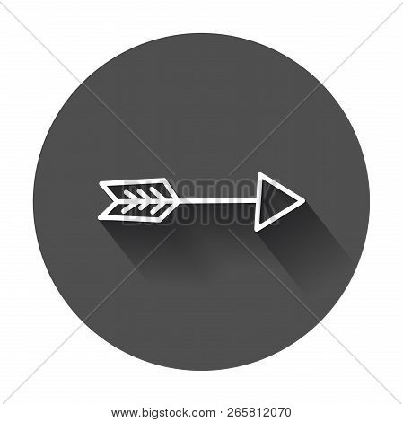 Arrows Icon. Hand Drawn Vector Illustration With Long Shadow.