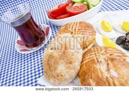 Turkish Breakfast Boyoz With Egg Famous In İzmir, Turkey