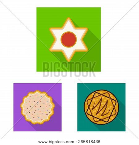 Vector Illustration Of Biscuit And Bake Logo. Set Of Biscuit And Chocolate Stock Symbol For Web.