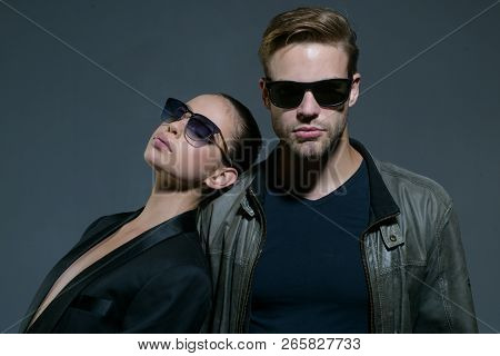 Relations Built On Feelings. Friendship Day. Fashion Models In Trendy Glasses. Couple In Love. Coupl
