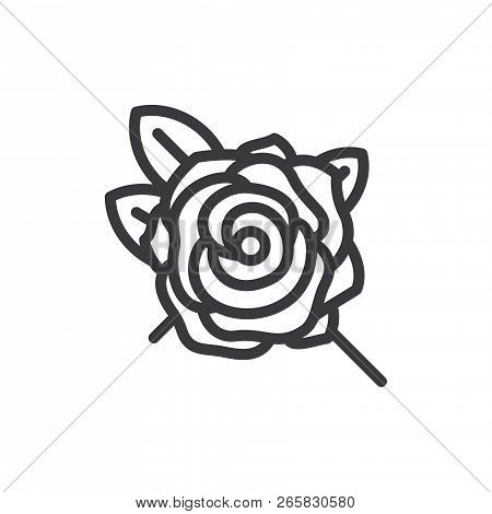Rose Vector Icon On Vector Photo Free Trial Bigstock