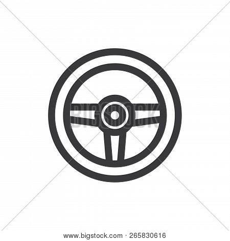 Racing Game Vector Icon On White Background. Racing Game Icon In Modern Design Style. Racing Game Ve