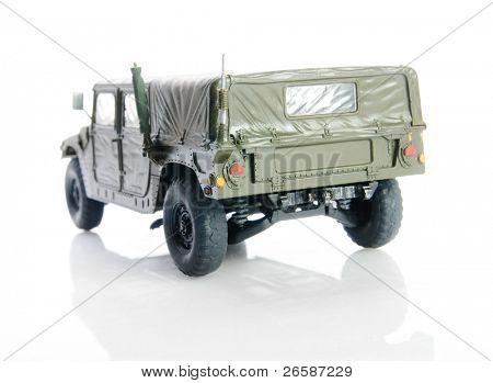 Isolated army humvee