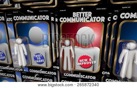 Better Communicator Top Best Communication Figures 3d Illustration