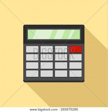 Calculator Icon. Flat Illustration Of Calculator Icon For Web Design