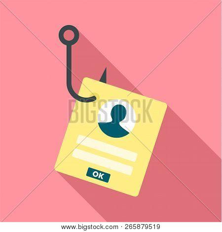 Phishing Personal Account Icon. Flat Illustration Of Phishing Personal Account Icon For Web Design