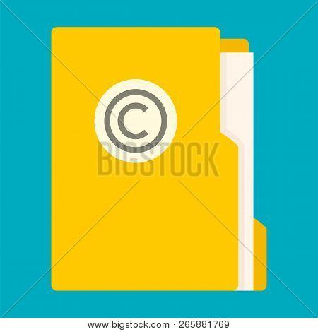 File Folder Icon. Flat Illustration Of File Folder Icon For Web Design