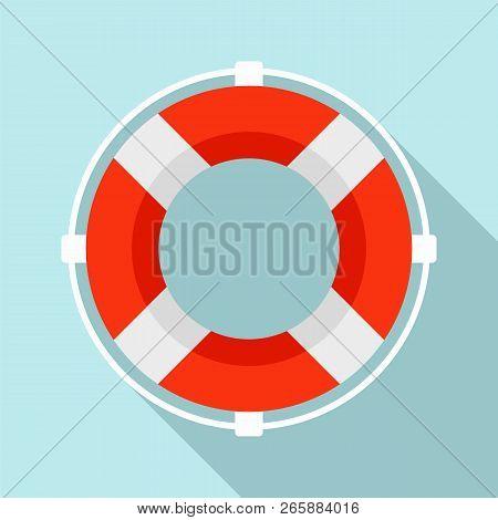Life Buoy Solution Icon. Flat Illustration Of Life Buoy Solution Icon For Web Design