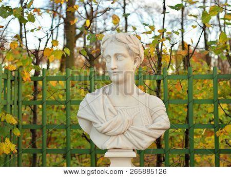 Tiberius Julius Caesar Augustus, Second Roman Emperor Of The Julio-claudian Dynasty In Summer Garden
