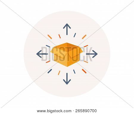 Parcel Delivery Icon. Logistics Service Sign. Tracking Symbol. Package Tracking. Distribution Or Del