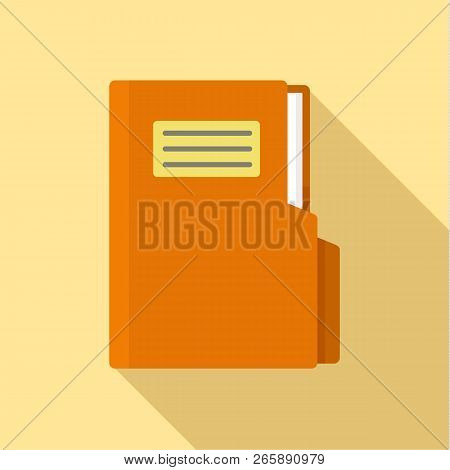 Folder Icon. Flat Illustration Of Folder Icon For Web Design