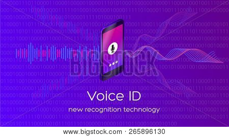 Vector Illustration Of Voice Id New Recognition Technology