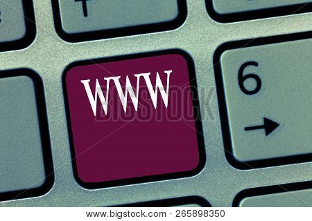 Word Writing Text Www. Business Concept For Network Of Online Content Formatted In Html And Accessed
