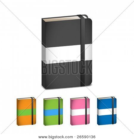 Collection of moleskins in various colors
