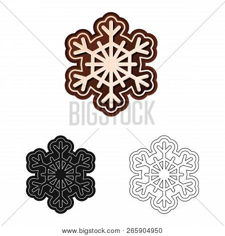 Vector Design Of Biscuit And Bake Logo. Set Of Biscuit And Chocolate Stock Vector Illustration.