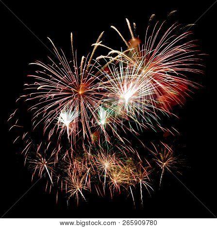 Fireworks On A Night Sky