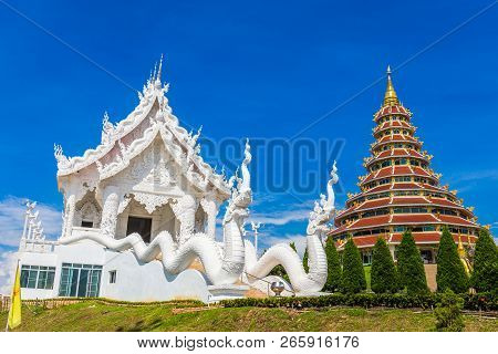 Landscape Of Wat Huay Pla Kung Temple With White Temple Travel Destination The Famous Place Religiou