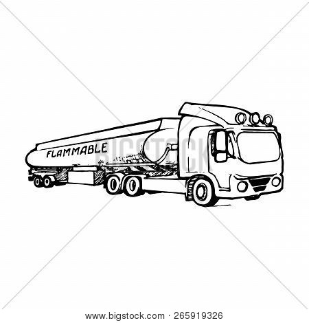 A Tank Truck Is A Special Type Of Vehicle For Transportation Of Liquid And Gaseous Commodities. Sket