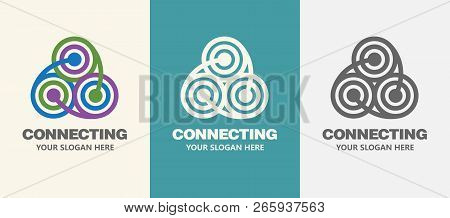 Abstract Business Company Logo. Corporate Identity Design Element. Technology, Social Media Logotype