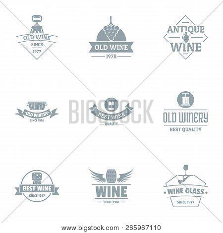 Finest Wine Logo Set. Simple Set Of 9 Finest Wine Logo For Web Isolated On White Background
