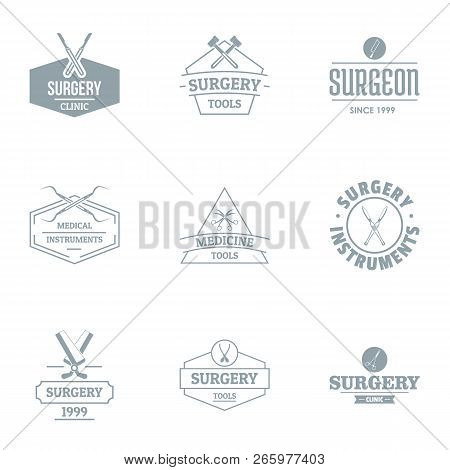 Operating Theatre Logo Set. Simple Set Of 9 Operating Theatre Logo For Web Isolated On White Backgro