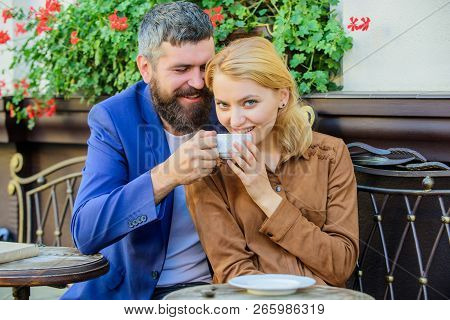 Girl Dating With Businessman. Dating Businessman. Couple Cuddling Cafe Terrace. Couple In Love Sit C