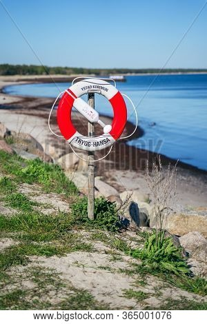 Ystad, Sweden - May 14, 2019: On The Sea Shore Of Ystad, Southern Sweden, Scandinavia, Europe. Life