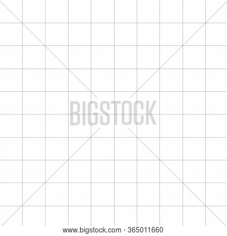 Grid Paper Icon On White Background. Flat Style. Pattern Square Icon For Your Web Site Design, Logo,