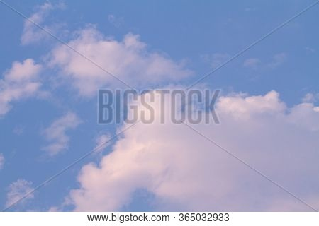 Blue Sky With Cloud Background And Texture