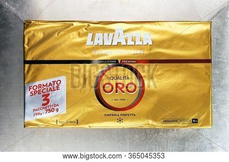Warsaw, Poland - March 9, 2020:lavazza Oro Coffee.lavazza Coffee Isolated On A White Background. Lui
