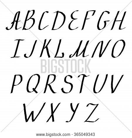 Vector Alphabet. Lettering And Custom Typography For Designs Logo, For Poster, Invitation, Etc. Hand