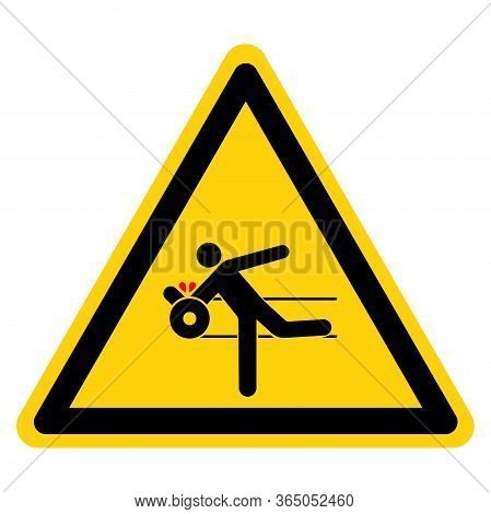 Warning Expost Moving Parts Can Cause Severe Injury Symbol Sign ,vector Illustration, Isolate On Whi
