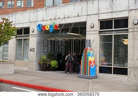 One Of Google's Headquarters In Seattle. Washington State. Usa. August 2019.