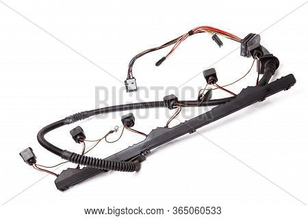 Electrical Wiring Of Engine Ignition Coils - An Element Of The Ignition System - Converts Low Voltag