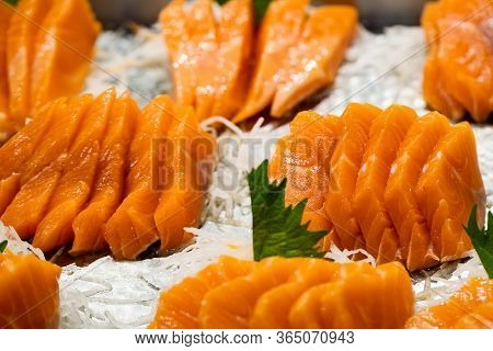 Japanese Foods Sashimi (raw Sliced Fish, Japan Of Raw Fresh Fish Fillet (sashimi)  , Assorted Japane
