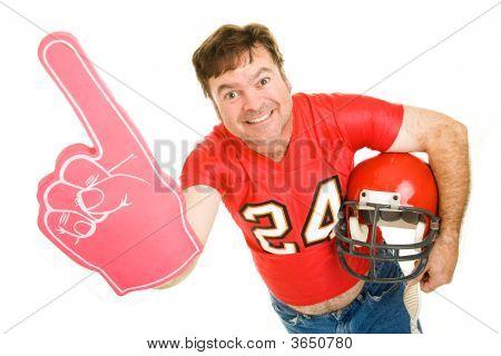 Middle Aged Footbal Fan