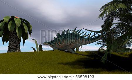 kentrosaurus in jugle