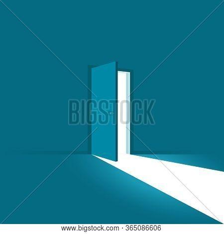 Open Door. Symbol Of New Career, Opportunities, Business Ventures And Initiative. Business Concept.