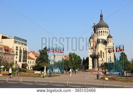 Cluj Napoca, Romania - August 26, 2012: People Visit The Old Town In Cluj-napoca. Cluj-napoca Is The