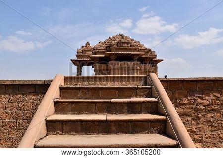Gwalior, Madhya Pradesh/india : March 15, 2020 - Sas Bahu Temple In Gwalior Fort
