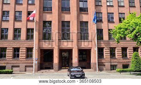 Warsaw, Poland. 7 May 2020. Front View Of The Ministry Of Foreign Affairs Building