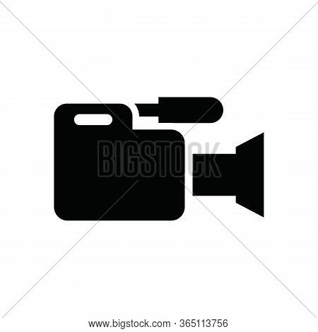 Video Camera Icon In Trendy Flat Style Isolated On Background. Video Camera Icon Page Symbol For You