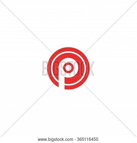 P Creative Letter Logo Design - P Letter Round Shape Logo Template