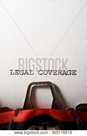 Legal coverage text written with a typewriter.