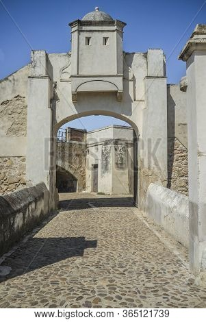 Bastion Door Of Palmas Bridge Hornwork. Fortification At The Bridgehead Built In Early 18th Century,