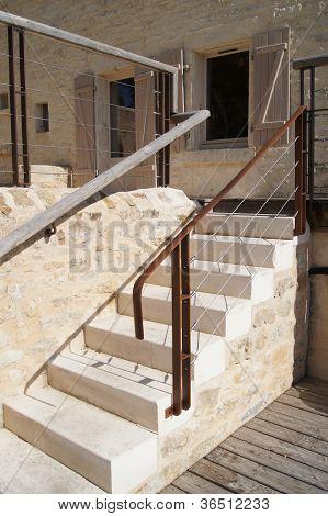 Outside stone steps